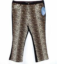 NWT RVT Leopard Print Jeans Denim Stretch Boot-cut No-Gap Waist Size 18