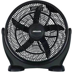 Heller 50cm Floor/Desk High Velocity Air Cooler Fan/Cooling/Circulator - Black