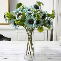 Silk Artificial Sunflowers Branch for Wedding Home Autumn Decor Fake Sunflower d