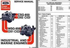 Ford 1979 - Ford Power Products Industrial and Marine Engines Service Manual CSG