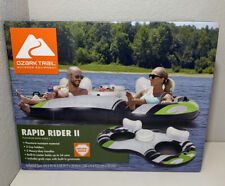 OZARK TRAIL RAPID RIDER FOR 2 INFLATABLE WATER TUBE FLOATING RAFT FLOAT