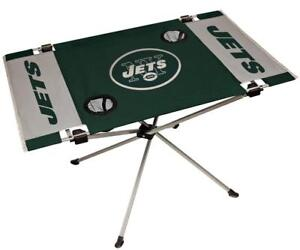 New York Jets Endzone Tailgate Table [NEW] NFL Portable Chair Fold Party