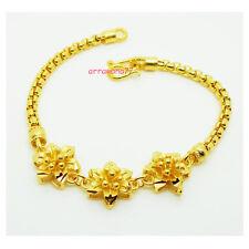 Flower 22K 23K 24K Thai Baht Yellow Gold  GP Jewelry Bangle Bracelet