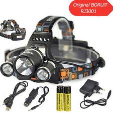 BORUiT 13000Lm XM-L T6 LED lampada frontale faro powerbank ricarica torcia 18650