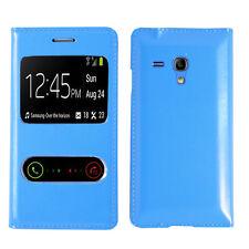 Funda Carcasa Plástico Vista funda AZUL Samsung Galaxy S3 mini i8190 i8200