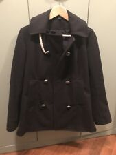 Camplin Cappotto Lana Montgomery Giacca Donna Women Navy Wool S Jacket Blu Coat