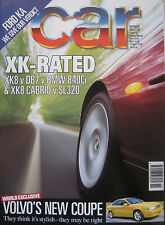 CAR 11/1996 featuring Jaguar, BMW 840Ci, Aston Martin, Porsche, Mercedes, Volvo