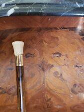 Antique Brigg 9K Gold Walking Stick Hallmarked 375 Cane Vintage London