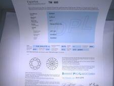 Natürlicher Diamant Brillant 0,56ct Feines Weiß G Si1   DPL Zertifikat  sg ex ex