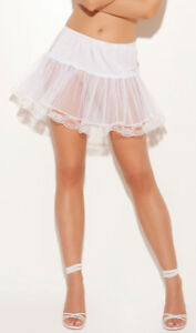 Lace Trimmed Petticoat Underskirt Costume Regular or Plus White Red Pink 9372
