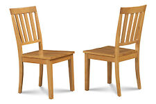SET OF 4 MOCHA KITCHEN DINING CHAIRS WITH WOODEN SEAT IN OAK FINISH