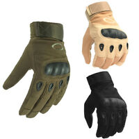 Mens Tactical Military Combat Gloves Hard Knuckle Army Security Police Duty Work