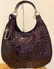 *** DIOR *** 61 *** Croc *** Patent Leather Purple **** Luxus Bag Lackleder