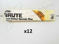 12 Rubbermaid Brute Steel Roller Sponge Mop Replacement Heads Yellow 6436