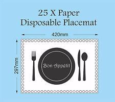Carta usa e getta Tovagliette Ristorante Catering Placemat pub fast food Tavolo Set