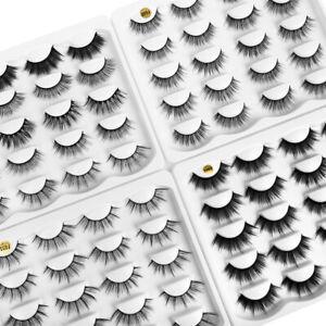 10 Pair 3D UK Faux Mink Eyelashes Wispy Long Thick False Eyelashes*BRAND NEW* ❤️