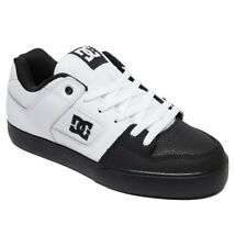 Tg 42 - Scarpe Uomo Skate DC Pure Black White Nero Bianco Sneakers Schuhe 2019