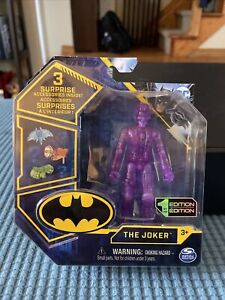 DC Spin Master 1st Edition - PURPLE JOKER + 3 Accessories New In Hand Very Rare