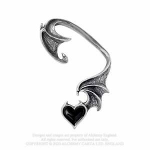 Alchemy Gothic Blacksoul Pewter Heart Ear Wrap - Gothic,Goth