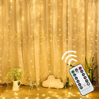 300LED 3m X 3m Fairy Curtain String Lights Christmas Xmas Party Holiday 8 Modes