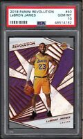2018 Panini Revolution #40 LeBRON JAMES Los Angeles Lakers PSA 10 GEM MINT