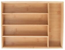 Drawer Organizer-5-Slot Bamboo for Cutlery or Other Organization