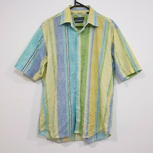 David Smith Button Up Shirt Colourful 70s Style Size L, No artificial colours