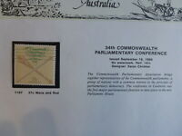 1988 AUSTRALIA 34th PARLIMENT CONFRENCE MACE & ROD MINT STAMP
