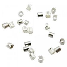 100 Crimp Tubes 1,1 x 1,5mm Silver Antique Silver Gold Crimp Beads Crimps