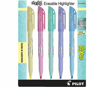Pilot 46543 FriXion Light Erasable Highlighter, Pastel Collection, 5-Color Set