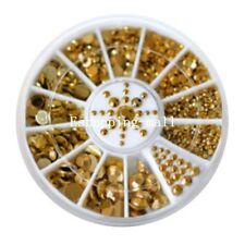 DIY 3d Acrylic Nail Art Tips Decoration Glitter Rhinestone Pearl Alloy Wheel LS Alloyball