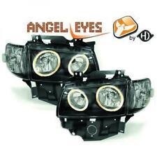 Scheinwerfer Set für VW T4 1997-2003 Klarglas/Schwarz Angel Eyes