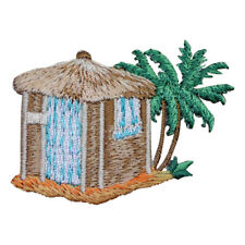 Beach Shack with Palm Trees Applique Patch (Iron on)