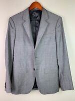 Theory Mens Two Button Notched Collar Blazer Jacket Gray Wool Size 36