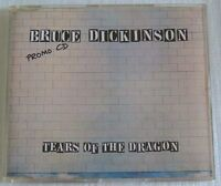 BRUCE DICKINSON TEARS OF THE DRAGON PROMO CD 3 TRACKS MADE IN UK IRON MAIDEN