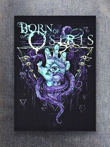 Born of Osiris patch sew on printed textile patch rock metal metalcore deathcore