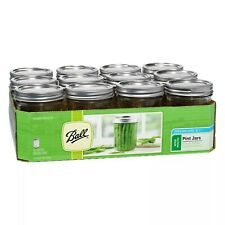 ✅NEW Ball 16oz WIDE Mouth Pint Canning Mason Jars, Lids & Bands Glass 12 Pack