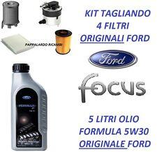 TAGLIANDO 4 FILTRI + OLIO 5W30 ORIGINALI FORD FOCUS II 1.6 TDCi Dal 2004 al 2012