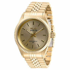 Invicta Men's Watch Specialty Gold Tone Dial Quartz Bracelet 29388