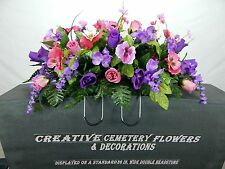 Deluxe Cemetery Flower Memorial Headstone Saddle/Pillow Grave Decoration