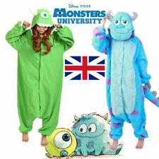 Mike&Sulley Monsters University Kigurumi Costume Cosplay Adult Fancy Pajamas J1