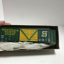 MDC Roundhouse Kit #1987 50' Double Door Box Car Seattle & NorthCoast  NIOB
