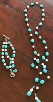 Sterling/Turquoise Bracelet & Lariat Set