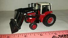 1/64 ERTL custom international 1086 tractor w/ black westendorf loader farm toy