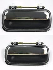 Pair Rear, LH & RH, Outside Door Handle Chrome for 89-95 Toyota Pickup 4Runner