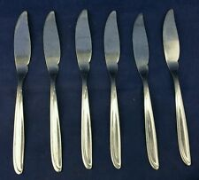 Set of six Oneida Stainless Butter Spreaders 20cm long.