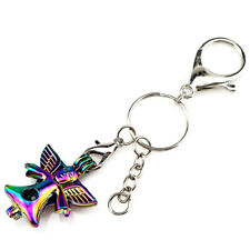 Key Chains Keychain Silver Plated Key Ring Clasp with Angel Beads Cage Y802
