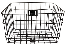 Firmstrong Standard Wire Metal Bicycle Basket (15x12x9) Black F6856