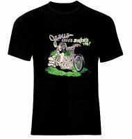 Motorrad Biker Rocker Tattoo Jesus Loves T-Shirt All Sizes