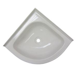 Bathroom White Plastic CORNER Vanity Sink Bowl - Caravan Motorhome Boat